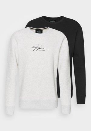 LIGHTWEIGHT TERRY CREWS 2PACK - Sweatshirt - black