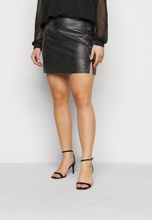 SPLIT MINI SKIRT - Minisukně - black