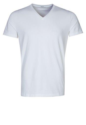 SOFT LYCRA NECK - T-shirt basic - white