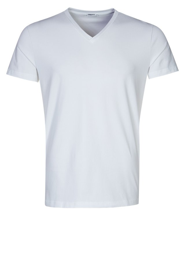 SOFT LYCRA NECK - T-shirt basic - white