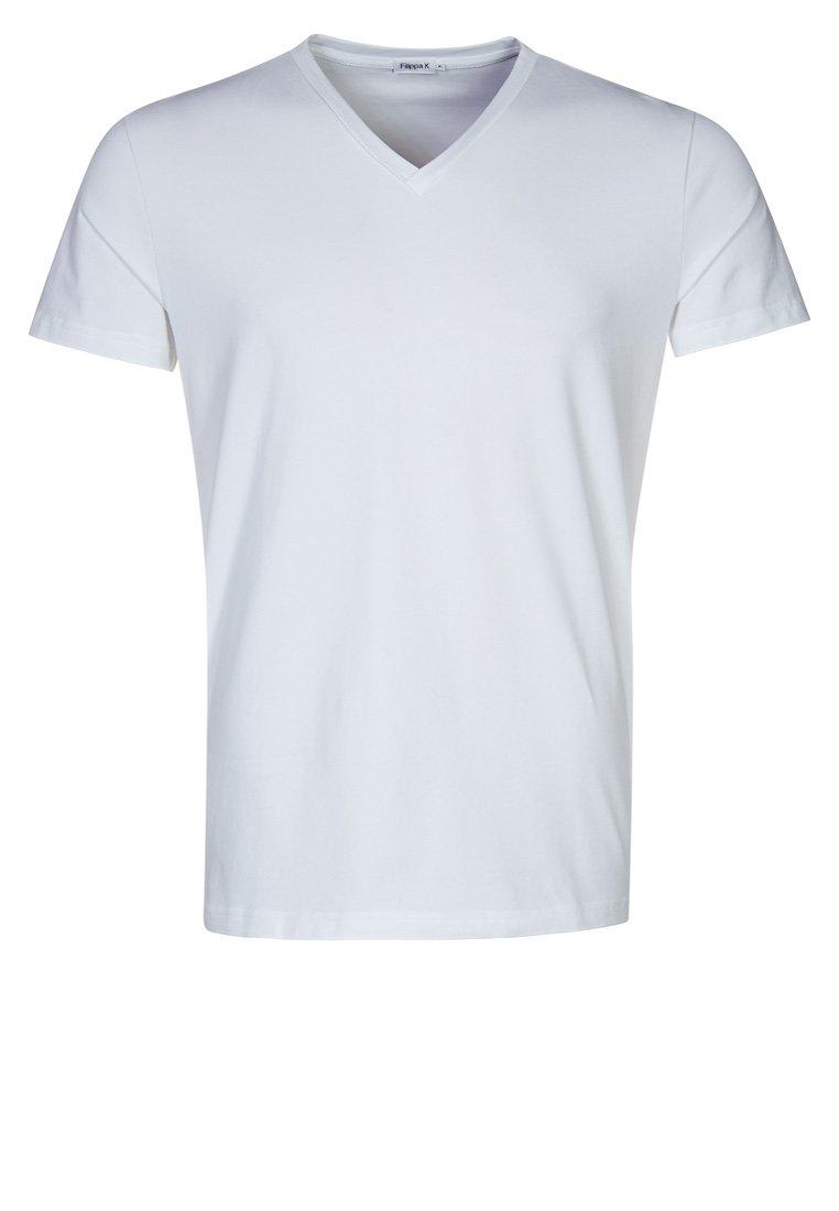 Filippa K - SOFT LYCRA NECK - T-shirt basic - white