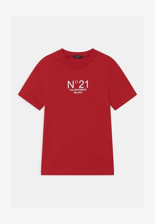 MAGLIETTA UNISEX - Print T-shirt - red