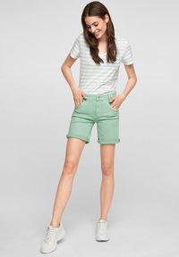 s.Oliver - Denim shorts - turquoise - 1