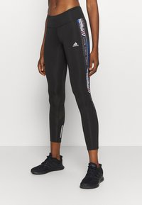 adidas Performance - OWN THE RUN - Tights - black/royal blue - 0