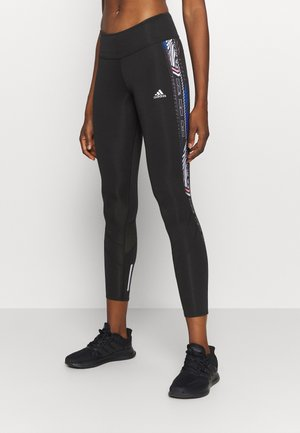 OWN THE RUN - Leggings - black/royal blue