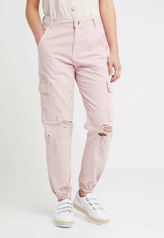 MALIBU DESTROYED - Pantalon classique - light pink