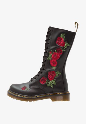 VONDA 14 EYE BOOT - Lace-up boots - black/rose