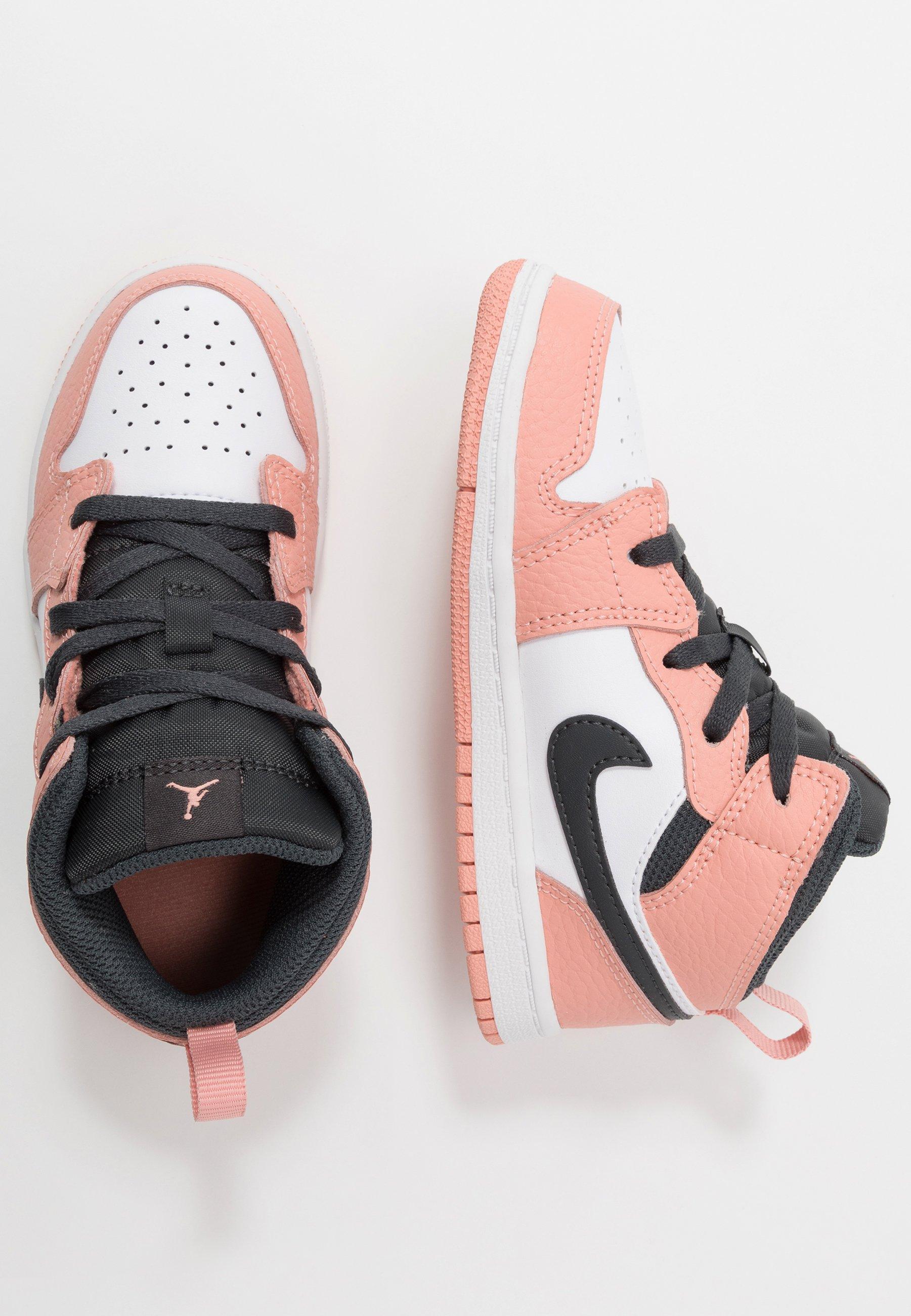 air jordan 1 mid rosa pastel