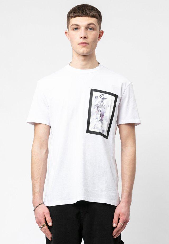 SKELETON PAINT BONDAGE  - T-shirt print - white