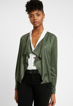 Faux leather jacket - thyme