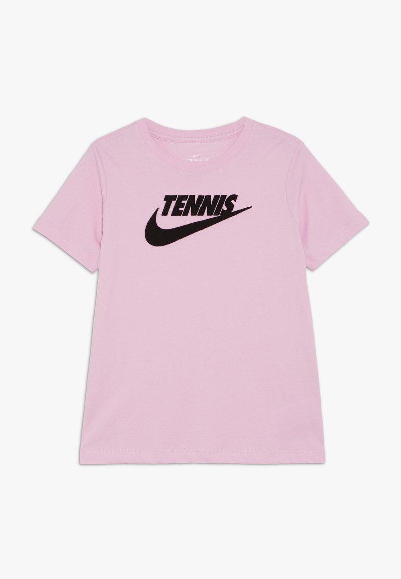 Nike Performance - TEE TENNIS - Triko spotiskem - pink rise/black