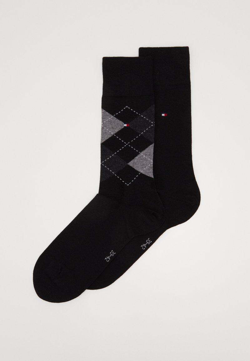 Tommy Hilfiger - MEN SOCK CHECK 2 PACK - Chaussettes - black