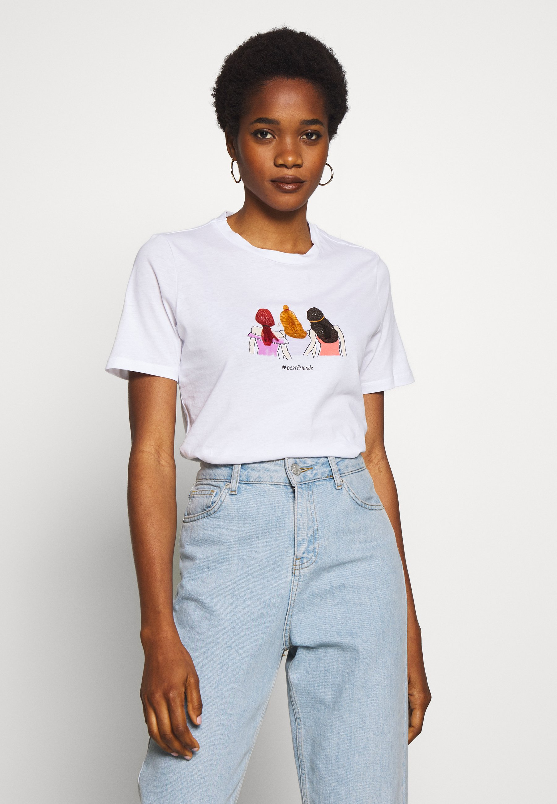 Women PCBESTFRIEND TEE  - Print T-shirt