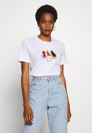 PCBESTFRIEND TEE  - Print T-shirt - bright white