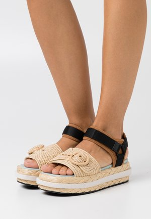 ACAPULCO - Sandalen met plateauzool - warm gingerbread/natural