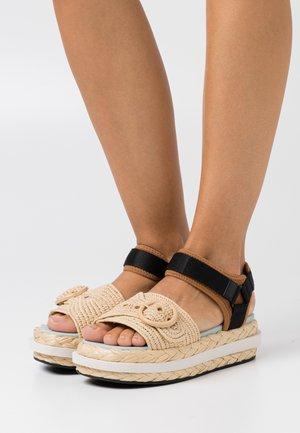ACAPULCO - Platform sandals - warm gingerbread/natural