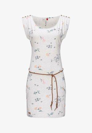 CHEGO FLOWERS - Jersey dress - weiß