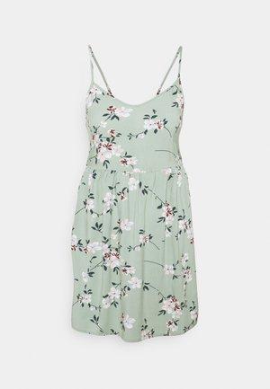 PCBEAUTY STRAP TIE DRESS - Kjole - green milieu