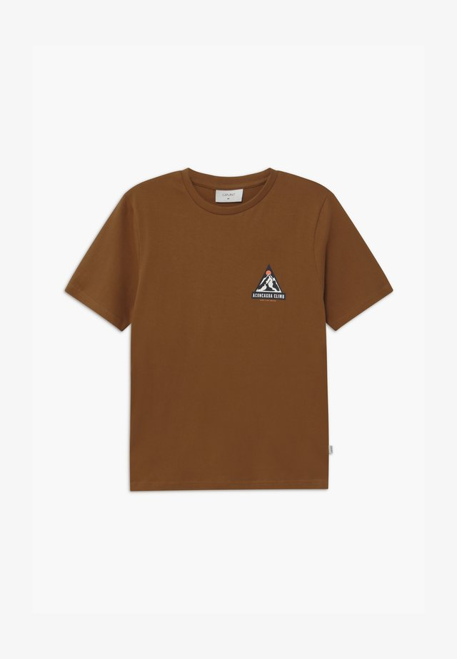 WARINO TEE - Camiseta estampada - coffee brown