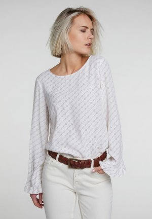 MIT OUI-MUSTER - Bluse - offwhite/blue