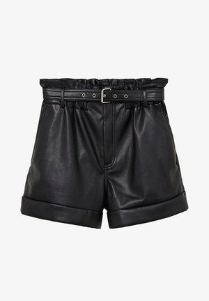 VZHLEDU S PÁSKEM - Shorts - černá