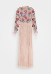 Maya Deluxe - EMBROIDERED FLORAL MAXI DRESS WITH BISHOP SLEEVES - Společenské šaty - taupe blush - 5
