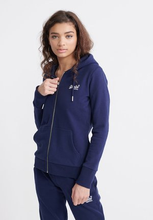 ORANGE LABEL  - Zip-up hoodie - atlantic navy
