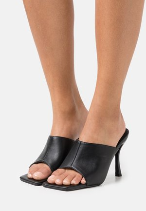 VICE - Heeled mules - black