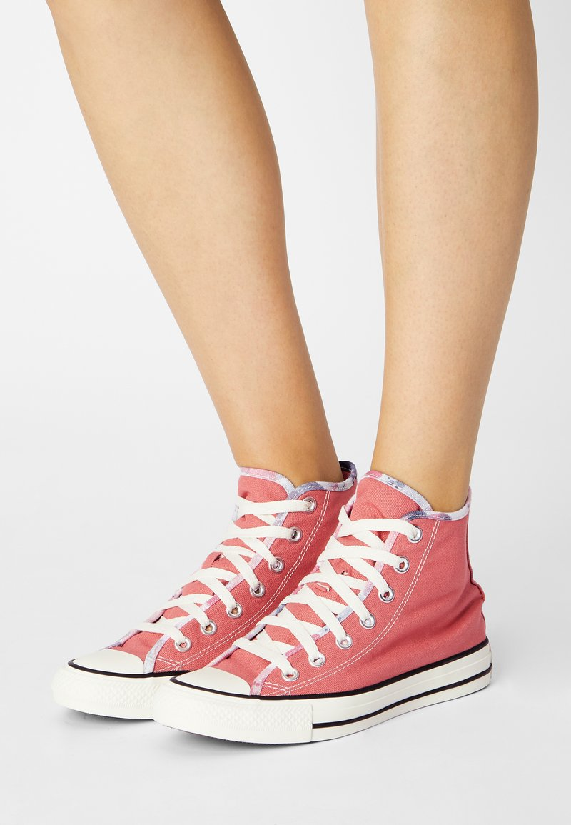 Converse - CHUCK TAYLOR ALL STAR SUMMER FEST PATCH - High-top trainers - terracotta pink/egret/black