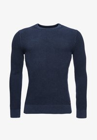 Superdry - ACADEMY DYED TEXTURE - Pullover - washed dark storm navy - 3