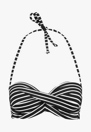 WIRE BAND - Bikini top - black/white