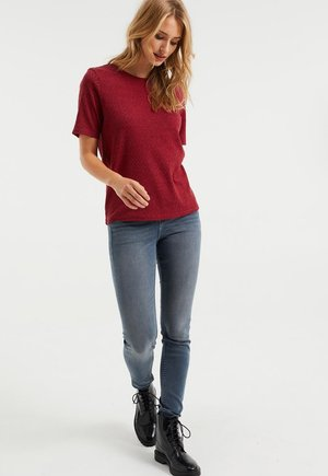 MID RISE MET SUPER STRETCH - Jeans Skinny Fit - greyish blue