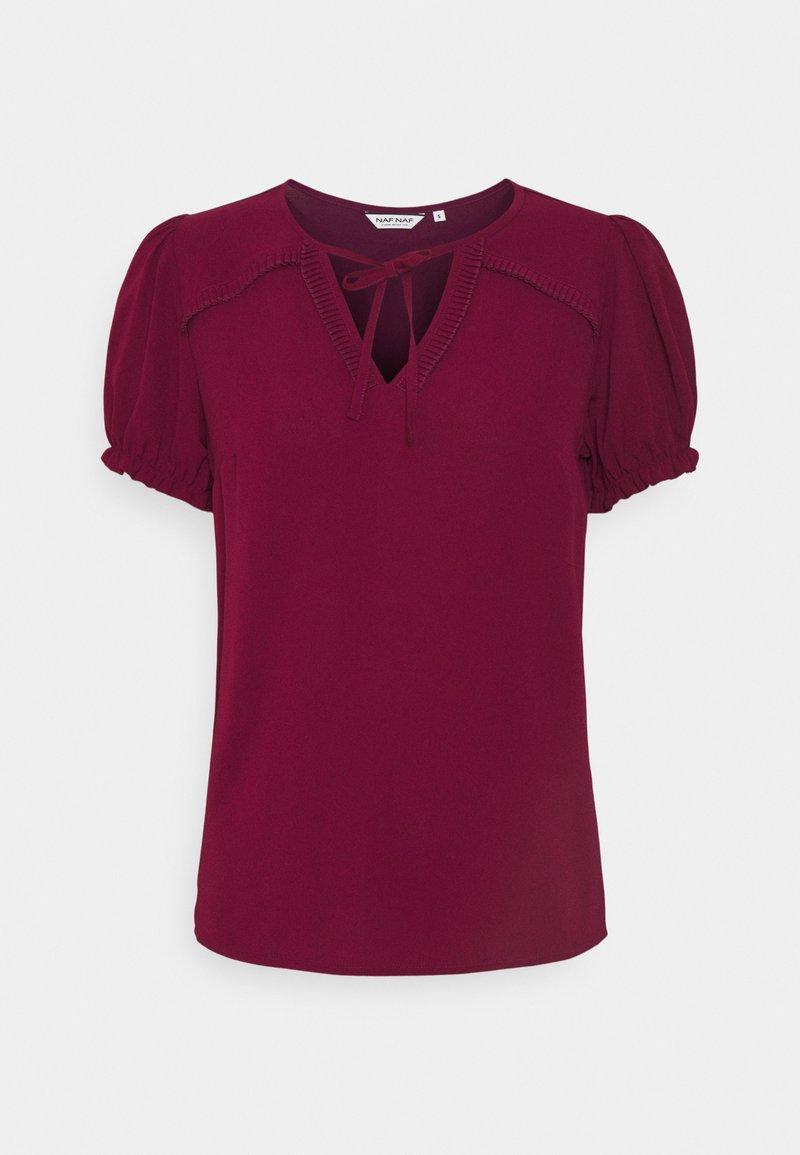 NAF NAF - PENT - T-shirts basic - berry