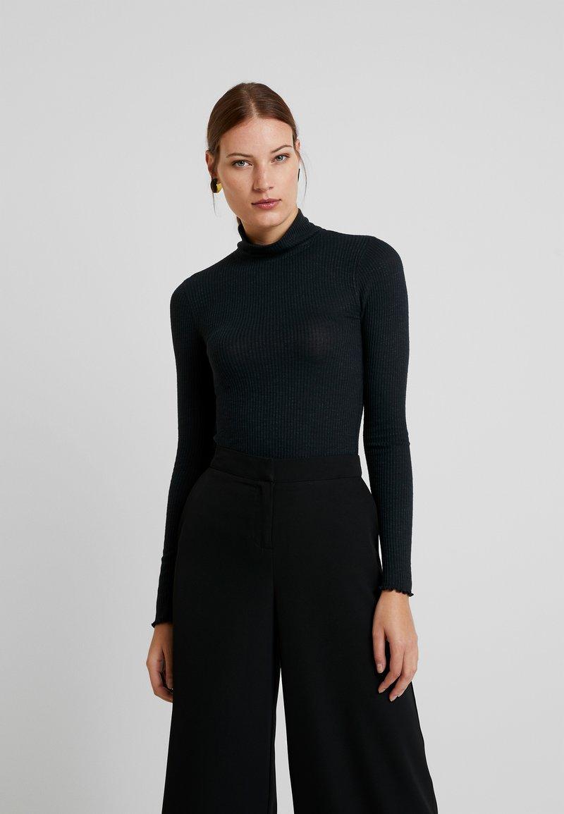 Abercrombie & Fitch - SLIM TURTLENECK - Maglietta a manica lunga - black