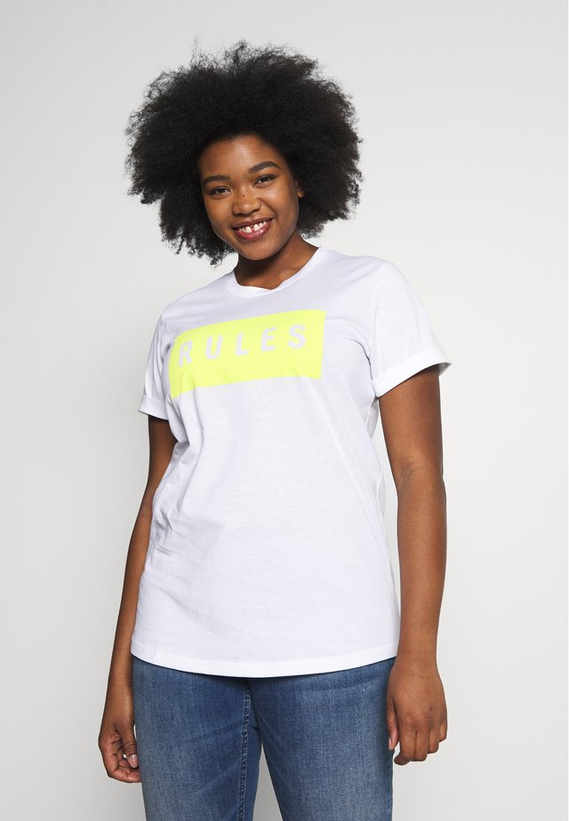 TIVA - Print T-shirt - white rules