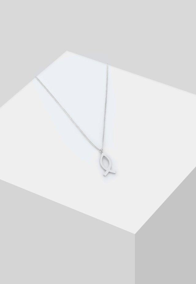KINDER FISCH SYMBOL CHRISTLICH RELIGION  - Necklace - silver-coloured