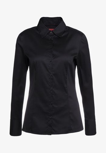 THE FITTED - Button-down blouse - black