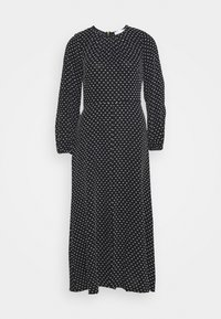 GATHERED NECK DRESS - Day dress - black