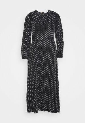 GATHERED NECK DRESS - Denní šaty - black