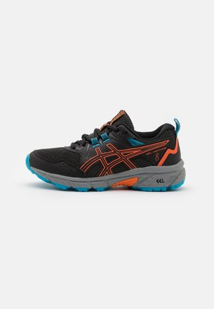 GEL-VENTURE 8 UNISEX - Trail running shoes - black/marigold orange