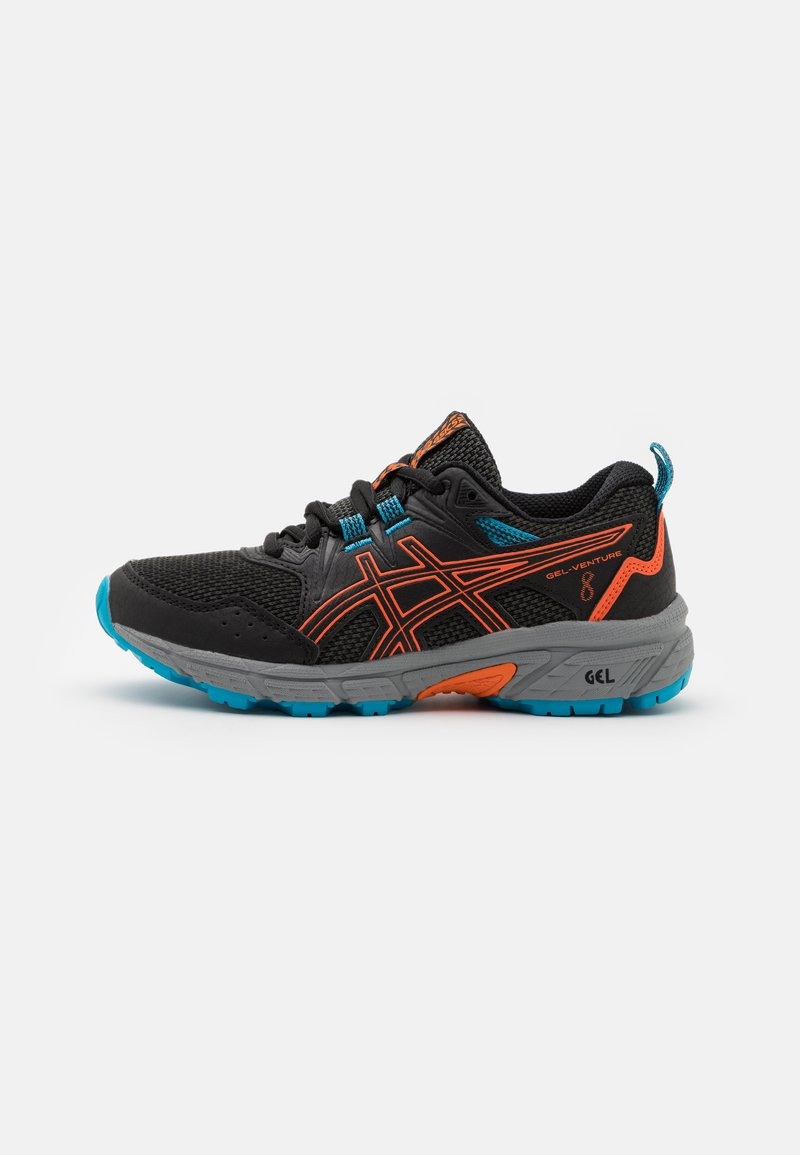 ASICS - GEL-VENTURE 8 UNISEX - Trail running shoes - black/marigold orange
