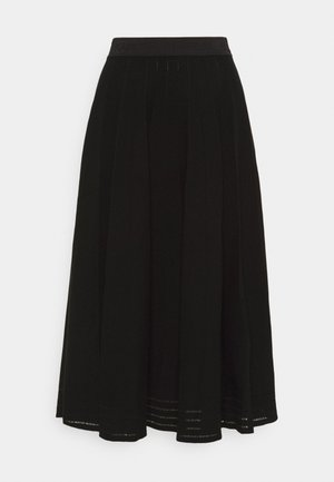 PLEATED SKIRT - A-line skirt - black