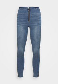 Missguided Petite - VICE HIGHWAISTED SKINNY WITH ZIP FLY - Jeans Skinny Fit - blue - 4