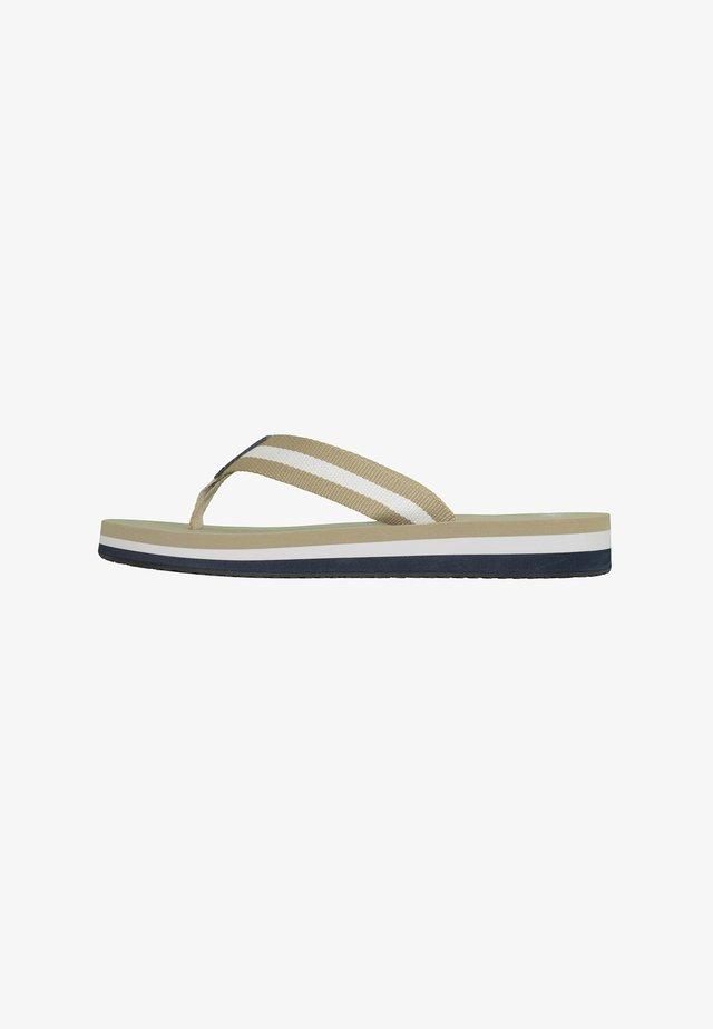 T-bar sandals - beige/multi