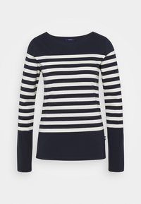 Scotch & Soda - CLASSIC ENGINERED LONG SLEEVE - Long sleeved top - dark blue - 0