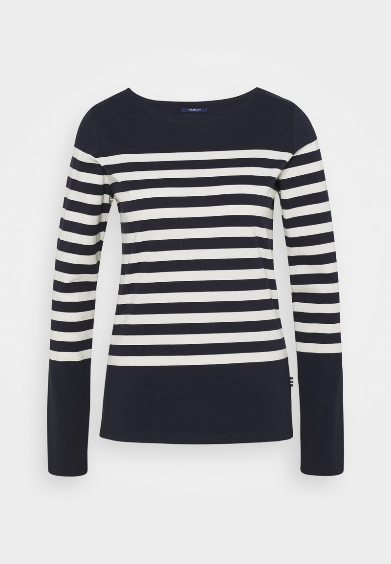 Scotch & Soda - CLASSIC ENGINERED LONG SLEEVE - Long sleeved top - dark blue