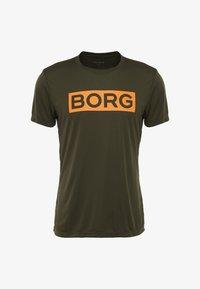 Björn Borg - TEE ATOS - T-shirt med print - forest night - 4
