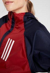 adidas Performance - Sportovní bunda - maroon/legend ink/white - 4