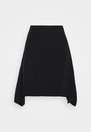 FLOUNCE HEM SKIRT - A-line skirt - black