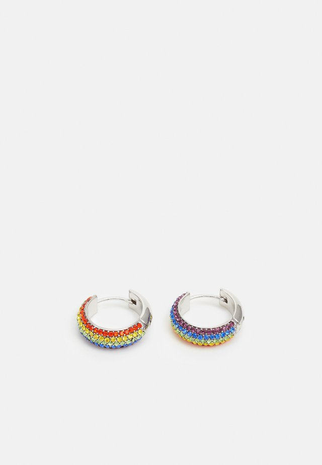 CANDY DROPS RAINBOW PAVE HUGGIES - Boucles d'oreilles - rainbow multi